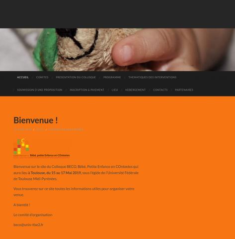 """Colloque interdisciplinaire international """"Bébé, Petite Enfance en Contextes""""."""
