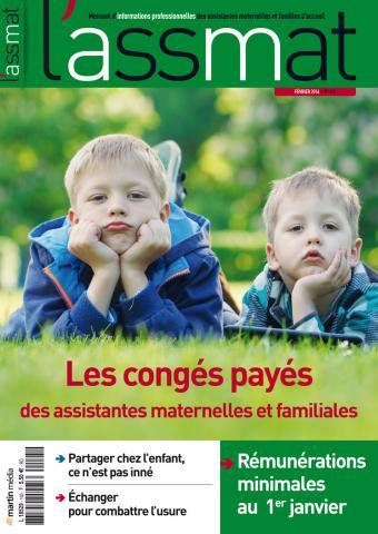 Les congés payés des assistantes maternelles et des assistantes familiales
