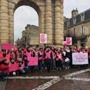 mobilisation des assistantes maternelles - gilets roses