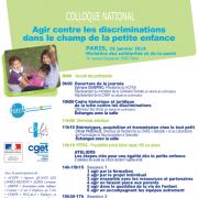 colloque Agir contre les discriminations dans le champ de la petite enfance