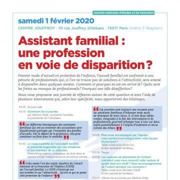 Assistant familial : une professionen voie de disparition ?
