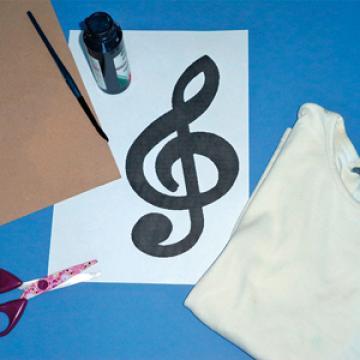 Matériel pour créer sa tunique musique